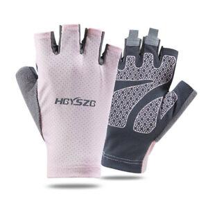 Unisex Half-Finger Sports Glove Anti-Slip Outdoor Driving Sun Protection Mittens