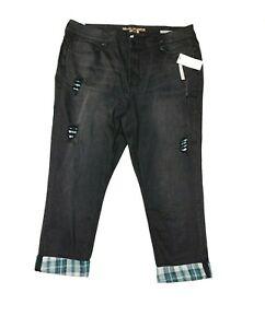 Seven7 Melissa McCarthy Jeans Womens Plus Size 26W Skinny Black NWT