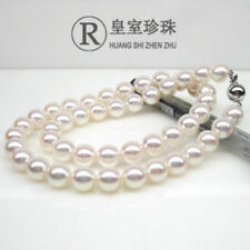"""18"""" Gorgeous AAA+ 10-11mm REAL natural south sea WHITE round pearl necklace 14K"""