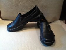 Thom MCAN Womens Black Leather Loafers Shoes Size 7M Slip On EUC