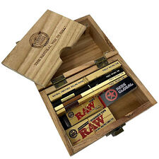 RAW Wooden Deluxe Rolling Storage Box Gift Set Classic Smoking Papers RedsGlobal