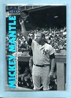 """MICKEY MANTLE 1998 98 Fleer """"Monumental Moments"""" #MM9 - Yankees - Shipping"""