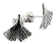 Ginko Blatt Ohrring 925 Silber Ohrringe Ohr  Paarpreis Sterling Silber Nr. 59