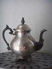 """Antique Art Nouveau Floral Ornate Silver Plate Teapot Coffee Pot 10"""""""