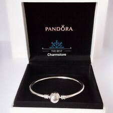 New Genuine Pandora Sterling Silver Moments Charm Bangle #590713 RRP£55