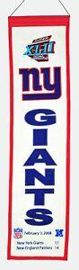 New York NY Giants Super Bowl XLII (42) Champions Championship Heritage Banner