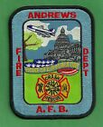 ANDREWS AIR FORCE BASE FIRE RESCUE PATCH HOME OF AIR FORCE ONE