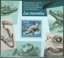 CENTRAL AFRICA 2014 CROCODILES SOUVENIR SHEET MINT NH