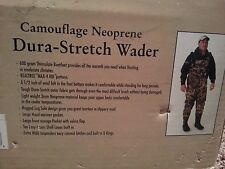 NEW Waterfowl Wading Systems Camouflage Neoprene Bootfoot Waders Caddis Size 11