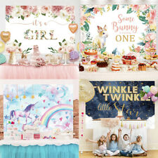 Birthday Vinyl Photography Backdrop Background Baby Shower Party Photo Props