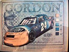 Vintage 1992 NASCAR Jeff Gordon Framed Poster - Winston Cup Debut
