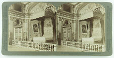 Underwood Stereoview of Louis XIV Bedroom, Palace of Versailles, France 1899 #45