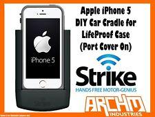 STRIKE ALPHA APPLE IPHONE 5 CAR CRADLE FOR LIFEPROOF CASE DIY PORT COVER ON