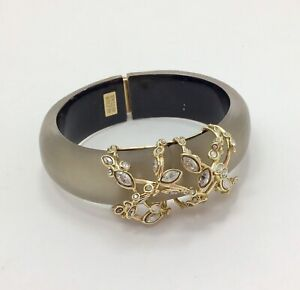"""Alexis Bittar Crystal Crusted Hinged Lucite Bangle, 6.5""""/17cm RRP £210"""