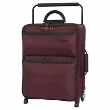 It Luggage Worlds Lightest Cabin 2 Wheel Chocolate Truffle/black Suitcase 55cm