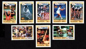Olympic Uganda 1992 set of stamps Mi#1131-38 MNH CV=18€