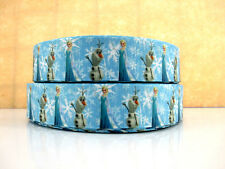 2 METRE NEW FROZEN RIBBON ELSA + OLAF SIZE 1 INCH BOWS HEADBANDS CAKE HAIR