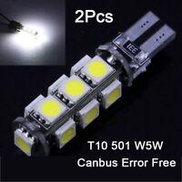 2PCS T10 501 W5W CAR LED SMD ERROR FREE CANBUS XENON WHITE SIDE LIGHT BULBS LAMP