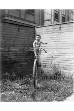 BABY ON UNICYCLE funny child children bike art photo print picture photograph