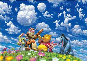 Japan Tenyo Disney Jigsaw Puzzle Winnie the Pooh Blue Sky Fantasy 500 Piece Pure