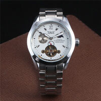 Moon Phase Roman Sports Fashion Mens Mechanical Wrist Watch Automatic Tourbillon
