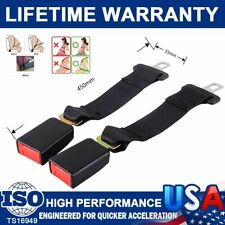 "2Pcs 14'' Universal Car Seat Seatbelt Safety Belt Extender Extension 7/8"" Buckle"