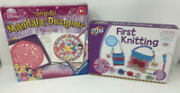 Disney Princess Ravensburger Mandala-Designer & Galt First Knitting NEW
