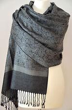 Schal Stola Tuch 70x180cm Viskose Regenbogen Pashmina Schultertuch A