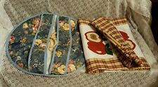Pair of Fabric Food Carriers-Transport-Potluck-Handmade