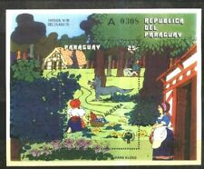 PARAGUAY 1979 GRIMM TALES ICY RED HOOD S/S SPECIMEN MUESTRA Mi BL 345 Yv 294 MNH