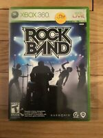 ROCK BAND - XBOX 360 - COMPLETE WITH MANUAL - FREE S/H - (SS)