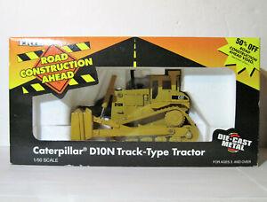 Vtg ERTL 1995 Road Construction Ahead CAT D10N Track-Type Tractor 1/50 Mip MINT