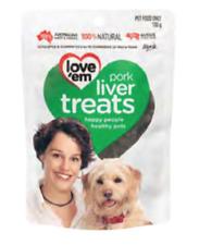 Love'Em Pork Liver Treats Dog Food Treats 100g
