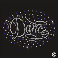 Dance Iron-On Rhinestone Diamante Hotfix Bling Gem Transfer TShirt Motif Crystal
