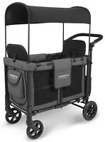 Wonderfold W2 Multi Function 2 Passenger Folding Double Stroller Wagon Gray NEW