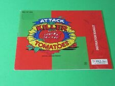 Attack Of The Killer Tomatoes - Nintendo NES Instruction Manual Booklet