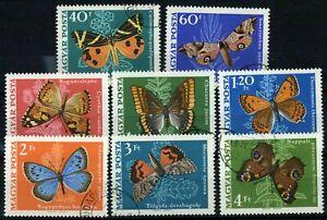 Hungary 1969 SG#2439-2446 Butterflies & Moths Used Set #E36855