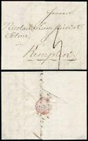 1804, Augsburg, kpl. Portobrief mit Beilage, von Augsburg nach Kempten