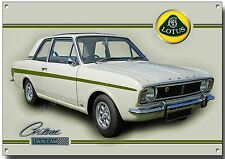 Ford Lotus Cortina Doble Leva Metal Letrero Vintage coches Ford, Clásico 1960's