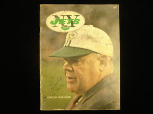 1971 New York Jets Autographed Yearbook – 30 Autographs!