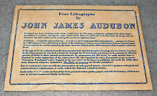 John James Audubon Birds America Lithograph Envelope 5-3/4 x 8 1827-1838