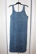 PHD denim overall dress jean JUMPER midi length size S faded EC
