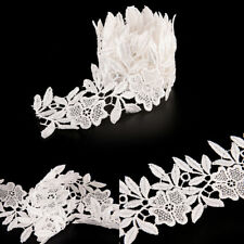 1yard Chic sewing diy embroidered lace trim ribbon wedding bridal dress trim  Z