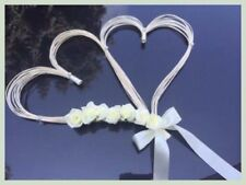 wedding car decoration 2 Big Hearts With Flowers kit set bows, wedding flowers