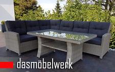 Rattan lounge grau  Grau Polyrattan Garnituren & Sitzgruppen | eBay