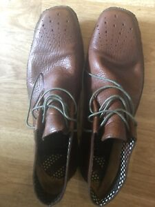 Paul Smith Mens Leather Shoes, brown Gobi Paniola classic shoes size 8