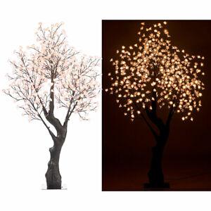 LED Baum: LED-Deko-Kirschbaum, 576 beleuchtete Blüten, 200 cm, für innen & außen