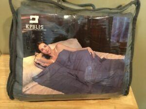 48x70 15 lb Grey Cotton Weighted Blanket ADD/Sleep Insomnia/Sensory/Asperger's