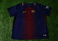 BARCELONA BARCA SPAIN 2017/2018 FOOTBALL SHIRT JERSEY HOME NIKE ORIGINAL KIDS XL
