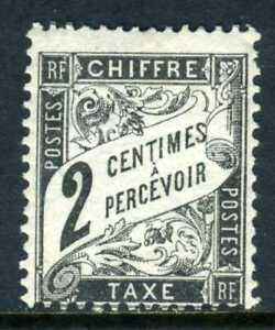 France 1882  Postage Due 2¢ Black  Mint Z337